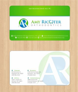 Amy Richter Orthodontics Business Cards and Stationery  Draft # 92 by Deck86