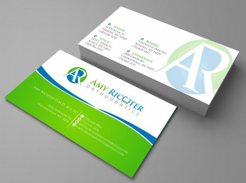 Amy Richter Orthodontics Business Cards and Stationery  Draft # 95 by Deck86