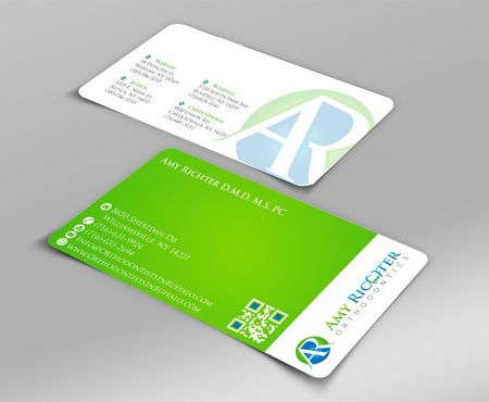 Amy Richter Orthodontics Business Cards and Stationery  Draft # 97 by Deck86