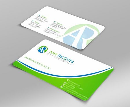 Amy Richter Orthodontics Business Cards and Stationery  Draft # 102 by Deck86
