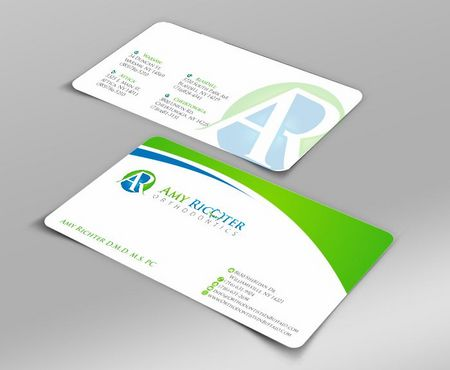 Amy Richter Orthodontics Business Cards and Stationery  Draft # 103 by Deck86