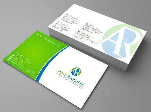 Amy Richter Orthodontics Business Cards and Stationery  Draft # 110 by Deck86