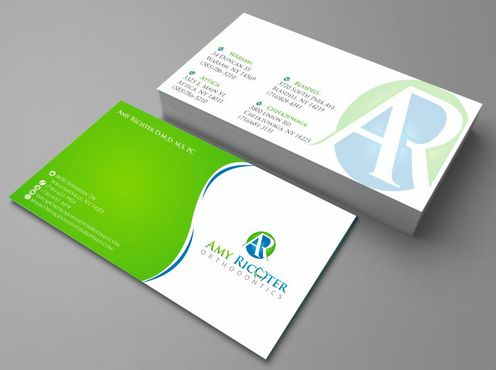 Amy Richter Orthodontics Business Cards and Stationery  Draft # 113 by Deck86