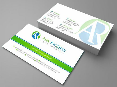Amy Richter Orthodontics Business Cards and Stationery  Draft # 116 by Deck86