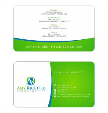 Amy Richter Orthodontics Business Cards and Stationery  Draft # 126 by Deck86