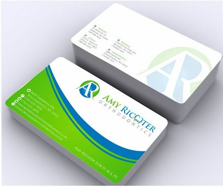Amy Richter Orthodontics Business Cards and Stationery  Draft # 135 by Deck86