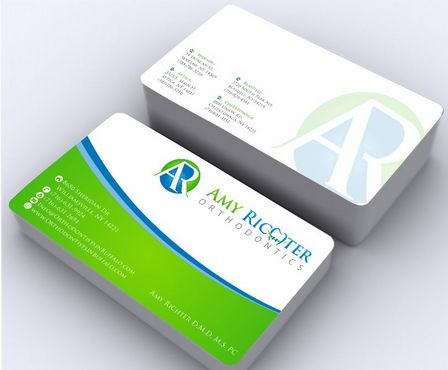 Amy Richter Orthodontics Business Cards and Stationery  Draft # 138 by Deck86