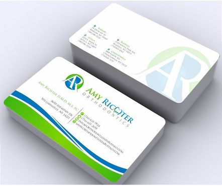 Amy Richter Orthodontics Business Cards and Stationery  Draft # 139 by Deck86