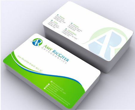 Amy Richter Orthodontics Business Cards and Stationery  Draft # 140 by Deck86