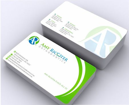 Amy Richter Orthodontics Business Cards and Stationery  Draft # 141 by Deck86
