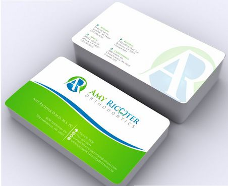 Amy Richter Orthodontics Business Cards and Stationery  Draft # 143 by Deck86