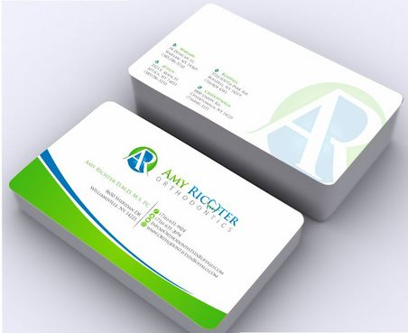 Amy Richter Orthodontics Business Cards and Stationery  Draft # 142 by Deck86