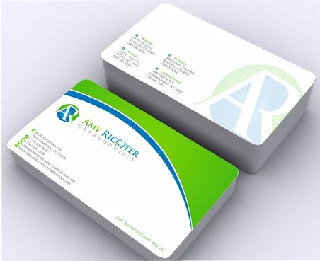 Amy Richter Orthodontics Business Cards and Stationery  Draft # 144 by Deck86