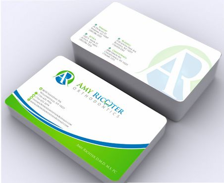 Amy Richter Orthodontics Business Cards and Stationery  Draft # 145 by Deck86