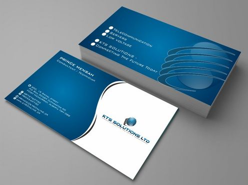 KTS SOLUTIONS Business Cards and Stationery  Draft # 124 by Deck86