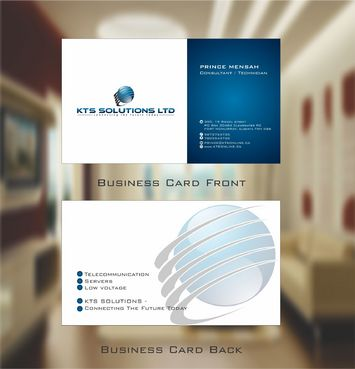 KTS SOLUTIONS Business Cards and Stationery  Draft # 125 by Deck86