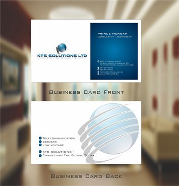 KTS SOLUTIONS Business Cards and Stationery  Draft # 129 by Deck86