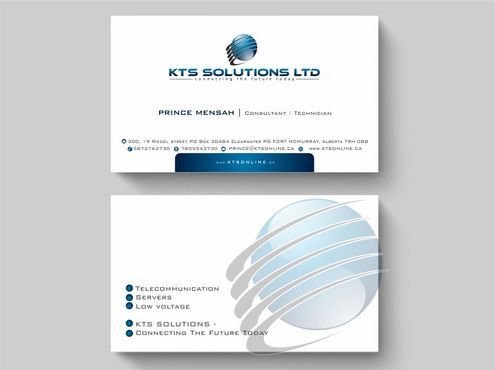 KTS SOLUTIONS Business Cards and Stationery  Draft # 130 by Deck86