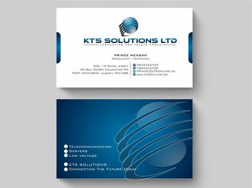 KTS SOLUTIONS Business Cards and Stationery  Draft # 131 by Deck86