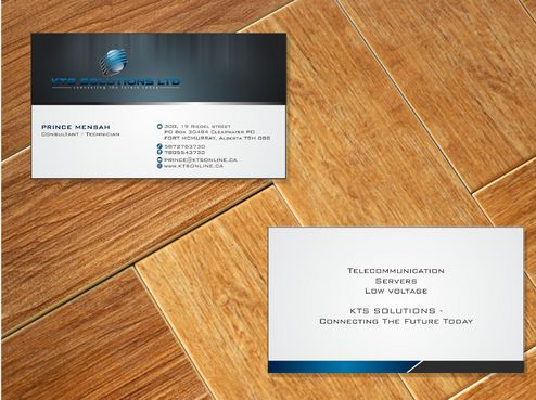 KTS SOLUTIONS Business Cards and Stationery  Draft # 134 by Deck86