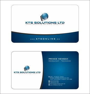 KTS SOLUTIONS Business Cards and Stationery  Draft # 136 by Deck86