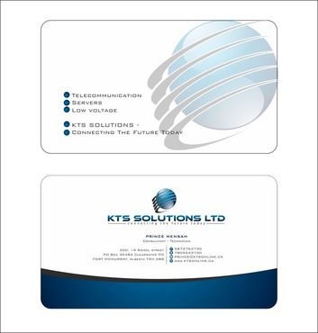 KTS SOLUTIONS Business Cards and Stationery  Draft # 137 by Deck86