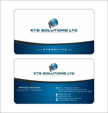 KTS SOLUTIONS Business Cards and Stationery  Draft # 138 by Deck86