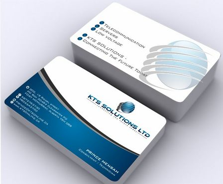 KTS SOLUTIONS Business Cards and Stationery  Draft # 147 by Deck86
