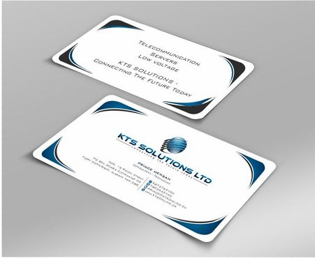 KTS SOLUTIONS Business Cards and Stationery  Draft # 158 by Deck86