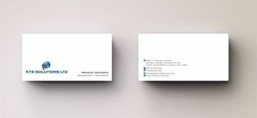KTS SOLUTIONS Business Cards and Stationery  Draft # 160 by Deck86