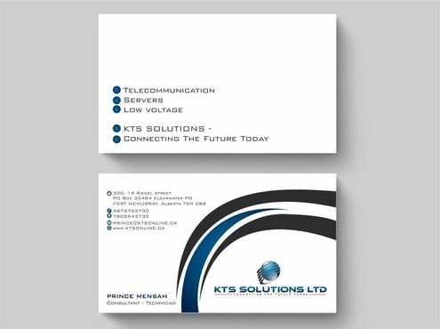 KTS SOLUTIONS Business Cards and Stationery  Draft # 161 by Deck86