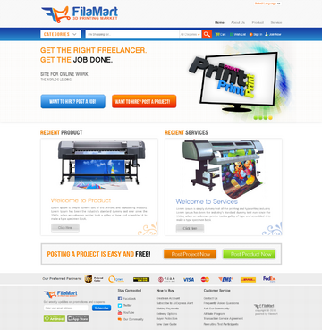 3D Printing Marketplace Web Design  Draft # 2 by timefortheweb