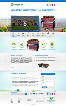 Dimension One Aquaponics Web Design  Draft # 94 by Atomitservices