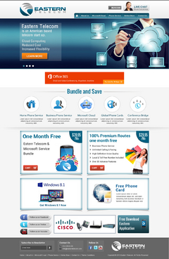 Eastern Telecom Complete Web Design Solution Winning Design by itmech