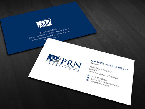 PRN Ultrasound Business Cards and Stationery  Draft # 12 by Xpert
