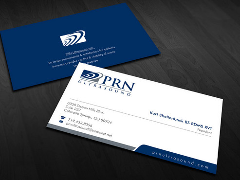 PRN Ultrasound Business Cards and Stationery  Draft # 14 by Xpert