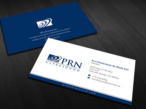 PRN Ultrasound Business Cards and Stationery  Draft # 15 by Xpert