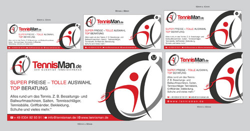 Der Günstige Tennisversand Marketing collateral Winning Design by Graph