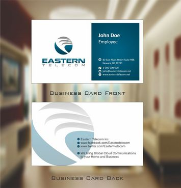 Eastern Telecom Business Cards and Stationery  Draft # 111 by Deck86
