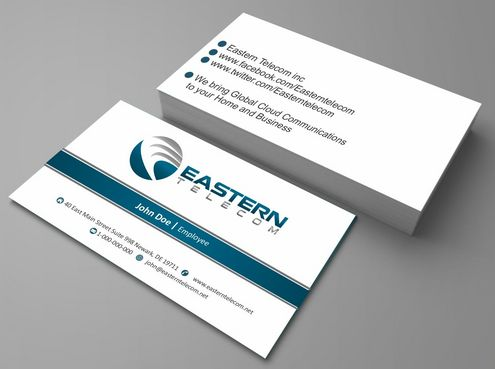 Eastern Telecom Business Cards and Stationery  Draft # 112 by Deck86