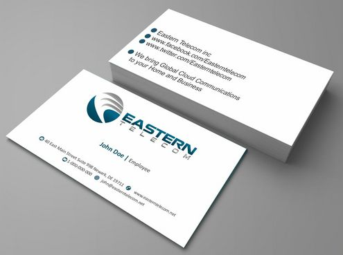 Eastern Telecom Business Cards and Stationery  Draft # 113 by Deck86