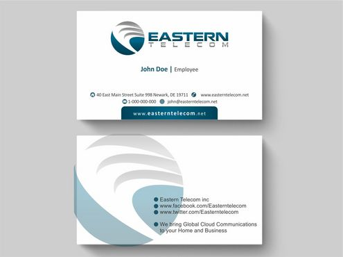 Eastern Telecom Business Cards and Stationery  Draft # 114 by Deck86