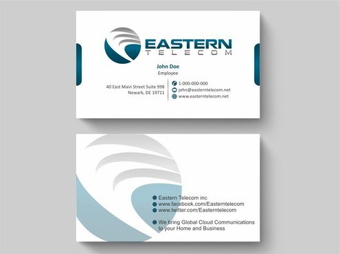 Eastern Telecom Business Cards and Stationery  Draft # 115 by Deck86