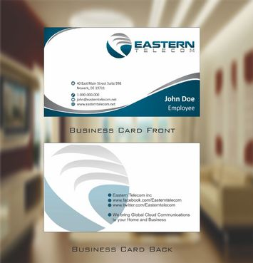 Eastern Telecom Business Cards and Stationery  Draft # 116 by Deck86