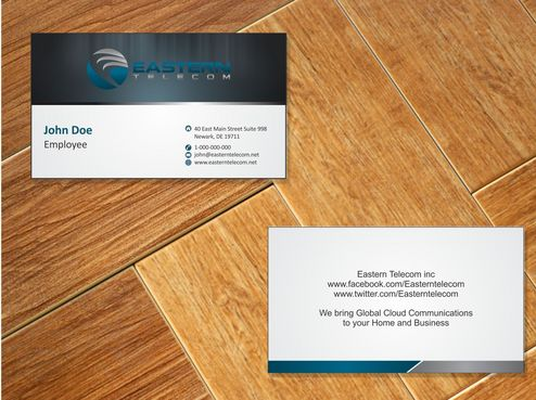 Eastern Telecom Business Cards and Stationery  Draft # 118 by Deck86
