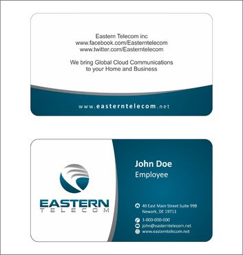 Eastern Telecom Business Cards and Stationery  Draft # 120 by Deck86