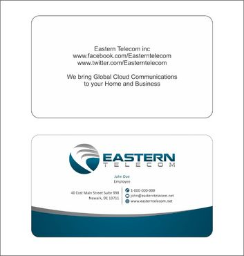 Eastern Telecom Business Cards and Stationery  Draft # 121 by Deck86