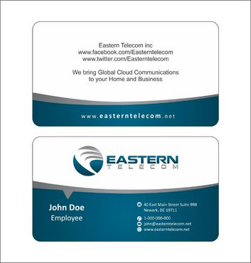 Eastern Telecom Business Cards and Stationery  Draft # 122 by Deck86