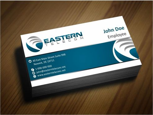 Eastern Telecom Business Cards and Stationery  Draft # 123 by Deck86
