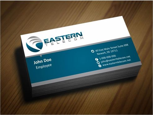 Eastern Telecom Business Cards and Stationery  Draft # 124 by Deck86